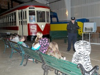 School Group in Street Car Hall